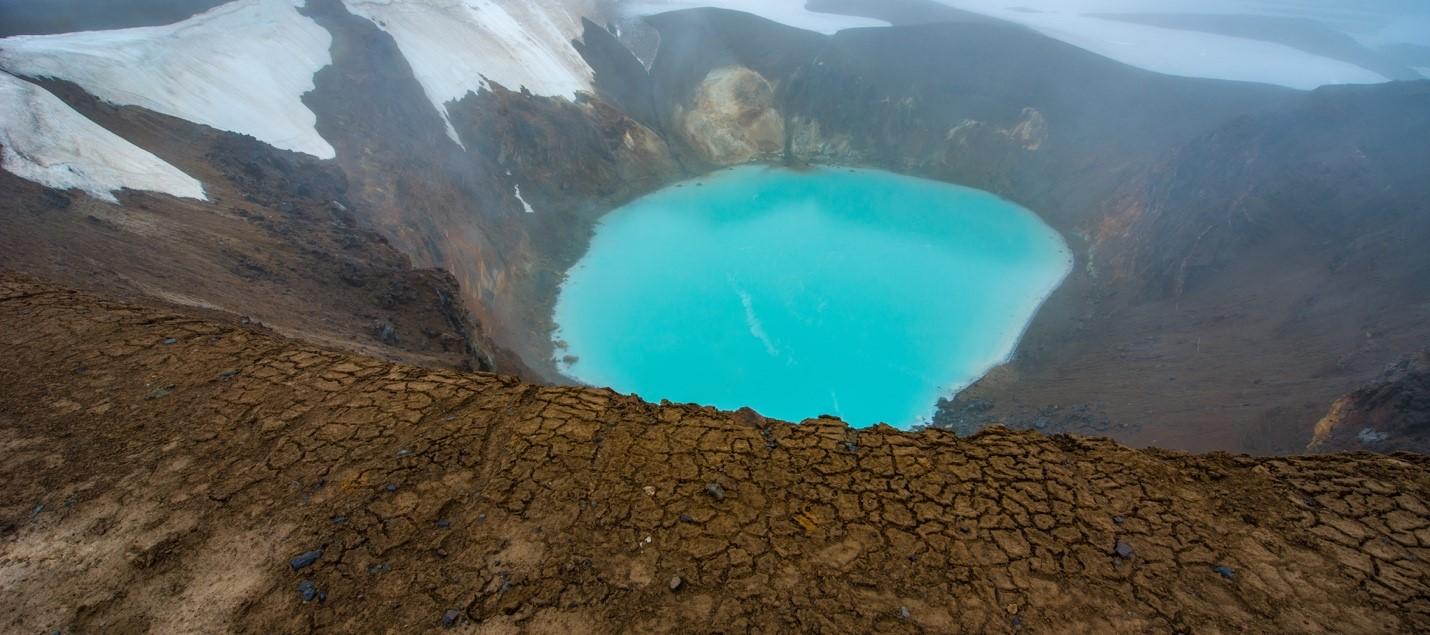 krafla volcano - iceland lava fields