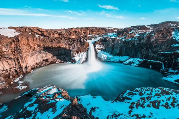 Waterfalls in Iceland: Aldeyjafoss