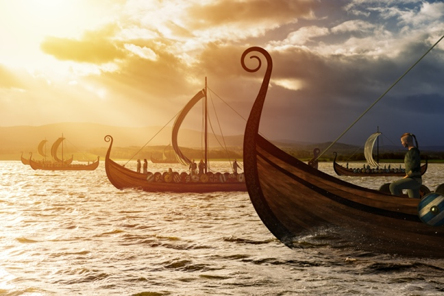 Papar (monks from Ireland) had lived there before Vikings from Norway