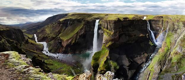 Waterfalls in Iceland: Háifoss Waterfall Iceland