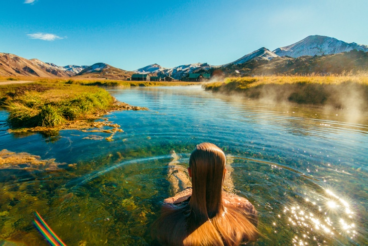 Things to do in Iceland in July - Natural Hot Spring