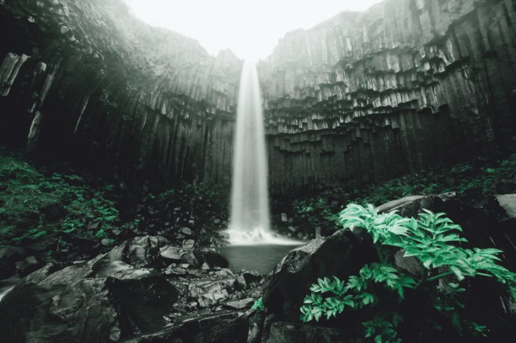 Iceland Waterfall - Svartifoss Waterfall Iceland
