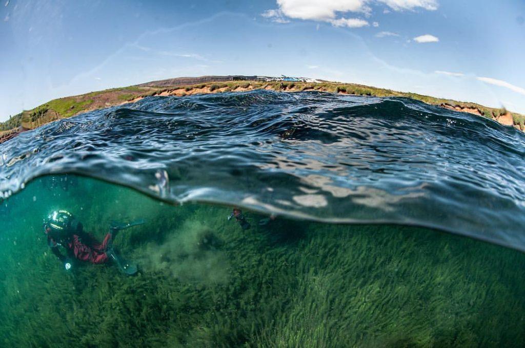 Snorkeling in Silfra Thingvellir Iceland