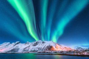 Northern Lights taken inside Reykjavik