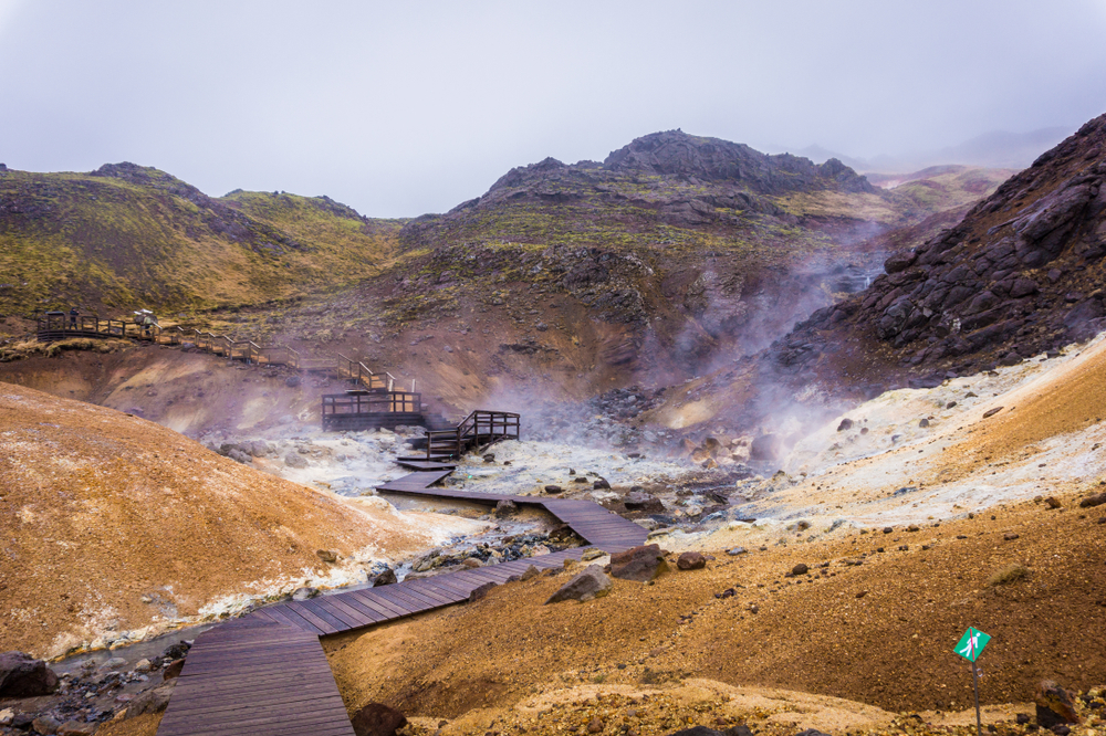 Geothermal hot spring in Iceland